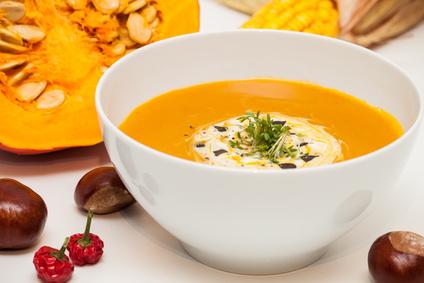Basische Kürbis Kartoffel Suppe